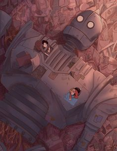 BROTHERTEDD.COM - hyriaven: Here is my full piece for the... The Iron Giant, Cyberpunk, Fan Art, Robot, Anime, Technology, Fictional Characters, Future, Tech