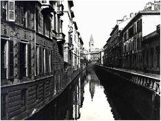 Via Fatebenefratelli antes da cobertura dos canais nos anos 30.