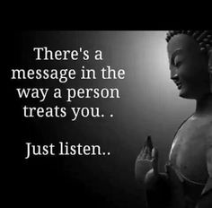 Believe me , message is loud even when that person has a mask on to make others not see her ugly truth!