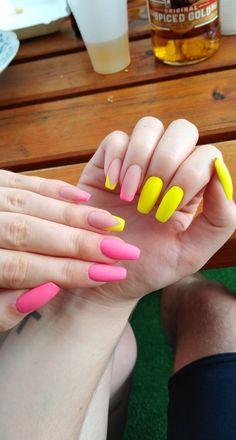 #nails #nails2inspire #nailstoinspire #nailsinspiration #studiopazoor #longnails #fluomania #colourfullnails #yellownails #naturalnails #pinknails #paznokcie #inspiracjepaznokciowe #nailsbyania #nails2020 #square #squarenails #ballerina #ballerinanails #trumienki #summernails #frenchnails #lovelasindigo #neonekindigo #mattenails #amazingnails #paznokciezelowe #paznokciehybrydowe Yellow Nails, Pink Nails, My Nails, Ballerina Nails, Square Nails, Matte Nails, French Nails, Natural Nails, Nails Inspiration