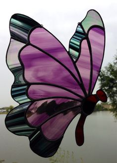Made-to-Order Butterfly Stained Glass Sun Catcher by Sweveneers