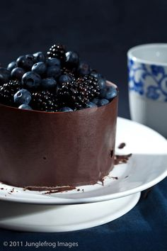 Chocolate Cake wrapped in Chocolate and filled with Berries