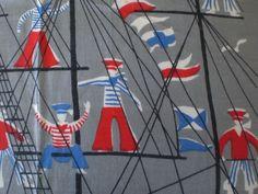 Vintage Tammis Keefe Sailors on Mast Handkerchief