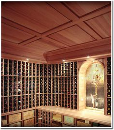 How To Have Gorgeous Wine Cellar Ceilings - Raised Panel Ceilings, a more fun visual description of this design would be calling it like chocolate bars ^_^