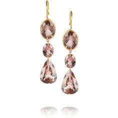 Marie-Hélène de Taillac Elisabeth 20-karat gold tourmaline drop... ($7,000) ❤ liked on Polyvore featuring jewelry, earrings, fine jewelry, red, red earrings, red jewelry, gold jewelry, drop earrings and fine jewellery