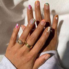 Nagellack Design, Funky Nails, Funky Nail Art, Funky Nail Designs, Colorful Nails, Trendy Nail Art, Nail Polish Designs, Designs On Nails, Gel Polish