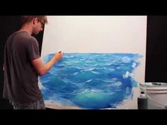 How To Paint Waves - Lesson 2 - Adding Light - YouTube