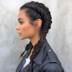 fishtail braided dutch braid