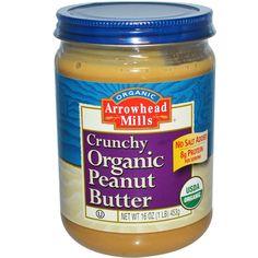 Arrowhead Mills, Crunchy Organic Peanut Butter, 16 oz (453 g) http://www.iherb.com?rcode=SJG145 ~ Use this code for extra discount: SJG145.