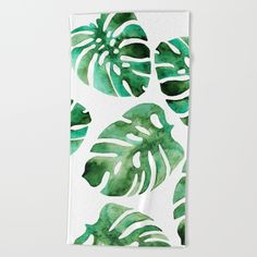 Monstera Beach Towel - print like this but with pine cones