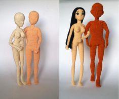 Woman and man body Pattern, doll amigurumi, doll crochet, PDF INSTANT DOWNLOAD