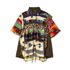 Sacai Women's Archive Print Mix Pullover (Multi) – DSMNY E-SHOP Mixing Prints, Style Me, Archive, Short Sleeves, Pullover, Texture, Patterns, Mens Tops, Shopping