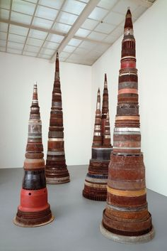 Totems using found objects tony cragg