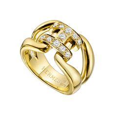 e831c691cb8 Estate+Hermès+ 18k+Yellow+Gold+ +Diamond+
