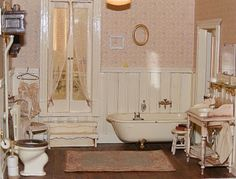 miniature Victorian bathroom