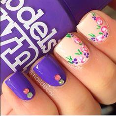 #nails #frenchnails #gelnails #acrylicnails #nailtrends #classynails #purple #morado #unas #nailart #nailfashion #polish #naillacquer #essie #opipolish #solarnails #nails2014 #diynails #springnails