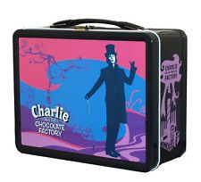 Charlie and the Chocolate Factory Pastel Metal Lunch Box Movie Toys Carrier