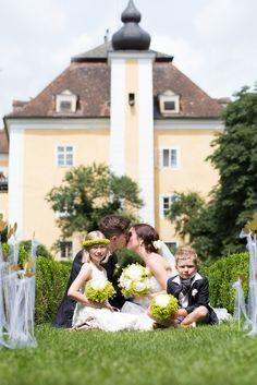 Hotel Schloss Mühldorf in Feldkirchen an der Donau, Österreich Castle Mühldorf in Feldkirchen, Austria Felder, Kirchen, Castle, Wedding Dresses, Fashion, Bride Dresses, Moda, Bridal Wedding Dresses, Fashion Styles