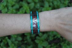 Mantra turquoise adjustable metal cuff $9.5 USD  #boho #gypsy #bohojewelry #hippiejewlery #gypsyjewelry