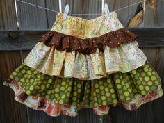 Girl's skirt with ruffles