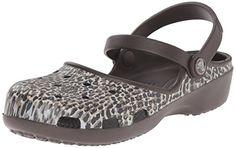 crocs Womens Karin Leopard Clog Espresso 9 M US *** For more information, visit image affiliate link Amazon.com