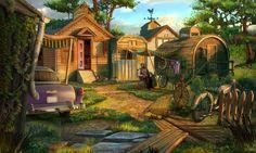 #village #villager #trailer #car #woodenhouse #art #artwork #gameart #madheadgames #gamedev #game