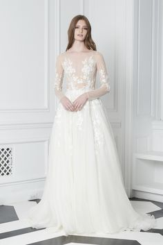 3a870fc757d Bliss by Monique Lhuillier Fall 2018 Wedding Dress Collection