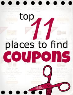 Have you ever wondered how to get more coupons? Or maybe you've asked, Where can you find coupons? Find out the top 11 places to get coupons here.
