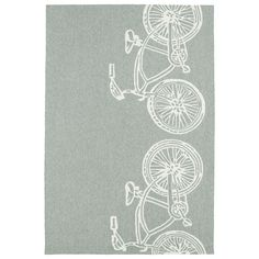 Kaleen Rugs Indoor/ Outdoor Beachcomber Bicycle Rug
