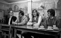 Monty Python reunion: Monty Python rehearsals at Acton Working Mens Club, 1970: John Cleese, Terry Jones, Eric Idle and Michael Palin