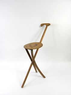 1930s folding cane with seat