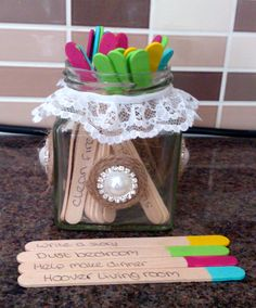 The Jobs Jar- Every day after school, my 5 year old chooses a job from the jar… 5 Year Old Boys Bedroom, Preschool Crafts, Diy Crafts, Emotional Child, Mommy And Son, Good Parenting, Kids Corner, Summer Activities, Beautiful Babies