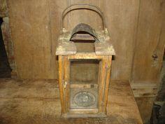 18th C Old Original RARE Early Primitive Wood Wooden Candle Holder Barn Lantern | eBay