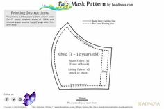 Free Printable Face Mask Pattern - Beadnova #free #Mask #pattern #Printable #sewing patterns free printable face mask<br> Solid Line, Dotted Line, Paper Source, Pattern Paper, Free Printables, Free Pattern, Sewing Patterns, Dots