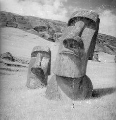 Moai Sculptures, Easter Island, 1934-35 — John Fernhout