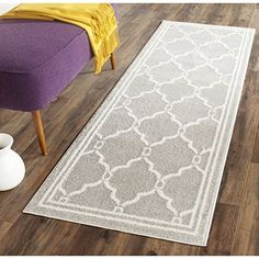 """Safavieh Amherst Collection AMT414B Light Grey and Ivory Indoor/ Outdoor Area Runner, 2 feet 3 inches by 13 feet (2'3"""" x 13') Safavieh http://www.amazon.com/dp/B00PQ9U73A/ref=cm_sw_r_pi_dp_sQ9Jwb15KGQ8C"""