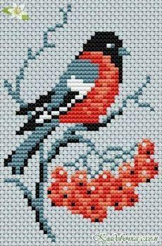 Cross Stitch Bird, Small Cross Stitch, Cross Stitch Animals, Cross Stitch Flowers, Modern Cross Stitch, Cross Stitch Designs, Cross Stitching, Cross Stitch Embroidery, Cross Stitch Patterns