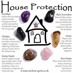 House Home Protection Crystal Set Crystals And Gemstones, Stones And Crystals, Crystals For Home, Selenite Crystals, Chakra Crystals, Chakra Stones, Crystal Guide, Crystal Shop, Home Protection
