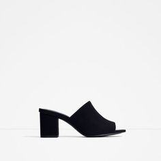 Image 4 of HIGH-HEEL BACKLESS SANDALS from Zara