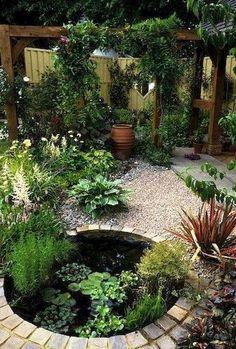 Gorgeous Backyard Ponds and Water Garden Landscaping Ideas (40) #watergarden