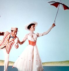 """It is often rumored that Walt Disney had asked his songwriters to write a song about a kite because of his two daughters. Both of his daughters are members of the Kappa Alpha Theta sorority.The song """"Let's Go Fly a Kite"""" is sometimes believed dedicated Mary Poppins Cast, Go Fly A Kite, Celebrity Halloween Costumes, Iconic Dresses, Under My Umbrella, Julie Andrews, Two Daughters, Music Icon, Classic Films"""