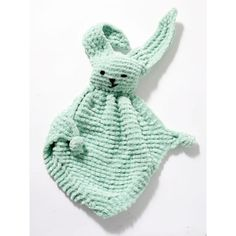 Bunny Blanket Buddy FREE crochet pattern by Lion Brand Yarn. This cuddly bunny blanket buddy is an easy gift for a baby or child. Crochet Lovey, Crochet Bunny, Knit Or Crochet, Crochet For Kids, Baby Blanket Crochet, Free Crochet, Crochet Lion, Crochet Socks, Baby Knitting Patterns