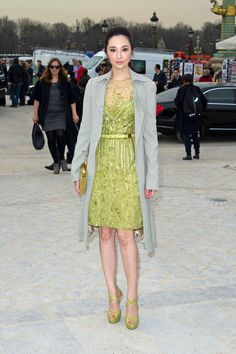 fashion show march 2014   arrivals at the elie saab fashion show 2 in this photo pace wu pace wu ...