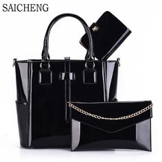 3 Set Wax Oiled Composite PU Leather Bag Handbags Women Messenger Bags Female Purse Solid Shoulder Bags Office Lady Casual Tote (32716321133) SEE MORE #SuperDeals