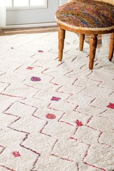 Rugs USA Red Marrakech Nursery Zigzag Shag Rug