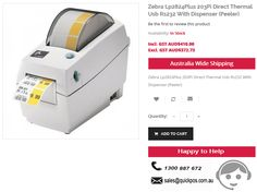 Point of SALE in Zebra Lp2824Plus 203Pi Direct Thermal Usb Rs232 With Dispenser (Peeler) @LOW Rates at QuickPOS in Australia..!  http://www.quickpos.com.au/pos-hardware/label-printers/thermal-label-printers/zebra-lp2824plus-203pi-direct-thermal-usb-rs232-with-dispenser-peeler