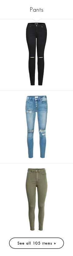 """Pants"" by saraxx113 on Polyvore featuring jeans, pants, bottoms, denim skinny jeans, skinny fit denim jeans, wide-leg jeans, destroyed denim jeans, destroyed jeans, blue and distressed skinny jeans"