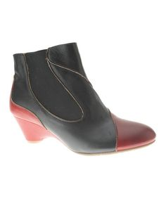 This Black & Red Bourgeois Leather Bootie is perfect! #zulilyfinds.  don't I wish I could wear these. Fabulous!