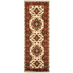 Herat Oriental Indo Hand-knotted Tribal Kazak Runner