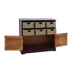 Wooden Brown 35-inch 6-drawer Storage Cabinet
